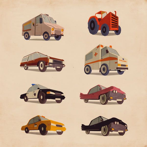 Car Illustrations by Giordano Poloni for Infographics