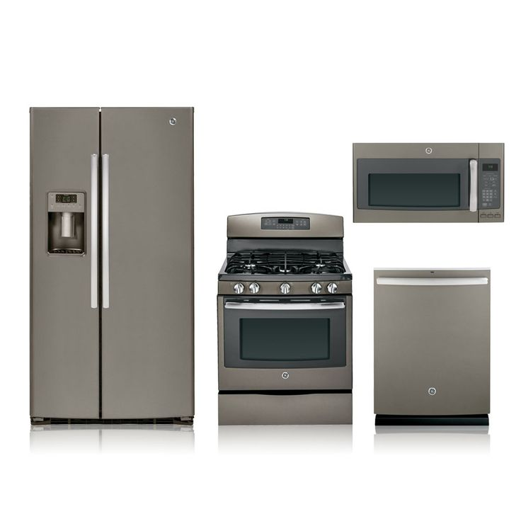 amazing Best Price Kitchen Appliance Packages #9: 4 Piece Slate Gas Kitchen Appliance Package Special