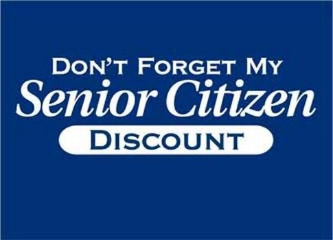 list of senior discounts - I'm not too proud for this!
