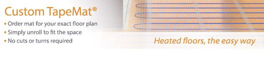 Radiant Floor Heating: SunTouch - Electric/Radiant Heated Floor Mats, Tiles, & Cables