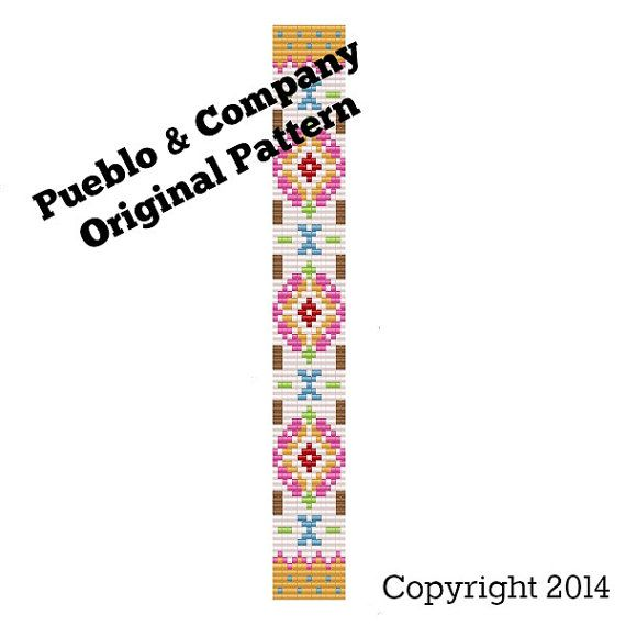 Americana Floral Bead Loom Pattern  Instructions by PuebloAndCo