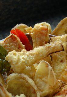Gluten-free Tempura Batter: You'll Need: Egg, cold water, rice flour, and cornstarch.