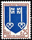 Armoiries de Mont-de-Marsan Armoiries des villes de France (Dixième série) - Timbre de 1966