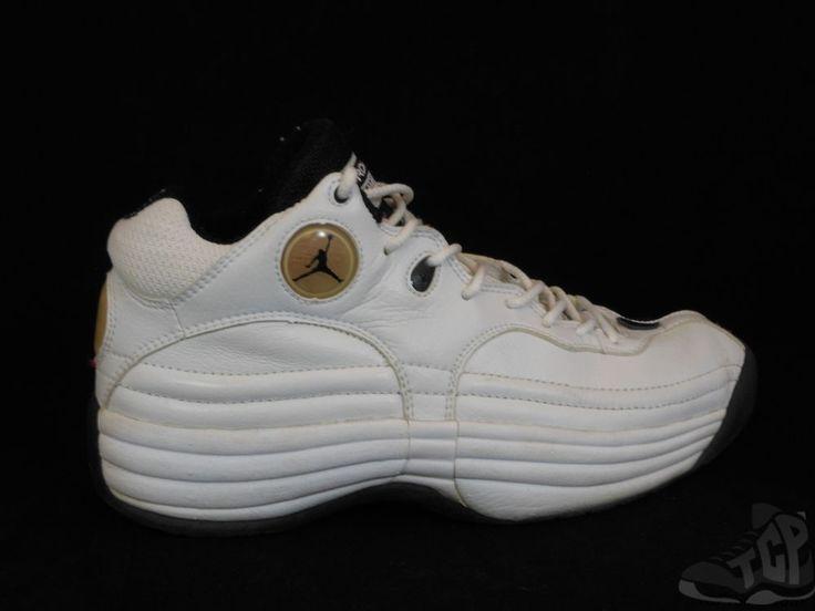 Vtg OG 1997 Nike Air Jordan Jumpman Team 1 I s sz 9 IX Black White