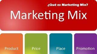 Que es Marketing Mix