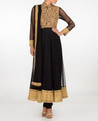 Black Suit with Zari Work #Exclusivelyin #IndianEthnicWear #IndianWear #Fashion #CelebratingIndia #Wedding #Traditional #Indochic #Designer #Boutique #Beautiful