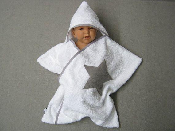 stern star baby wrap kapuzenhandtuch wickeltuch bademantel