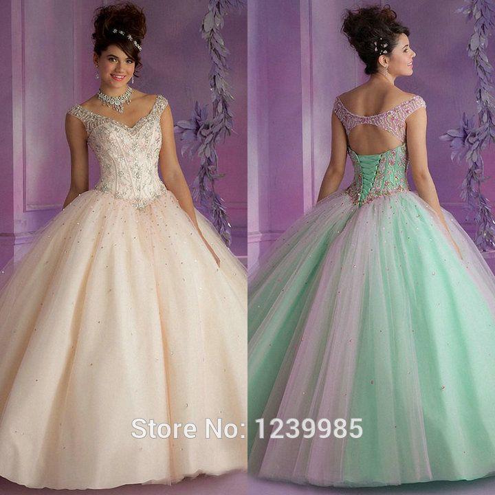 44 best mis vestidos images on Pinterest | Wedding frocks, Xv ...