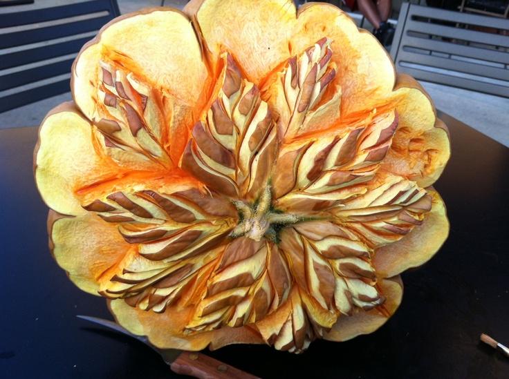 Wow a pumpkin carving by carl jones original food art