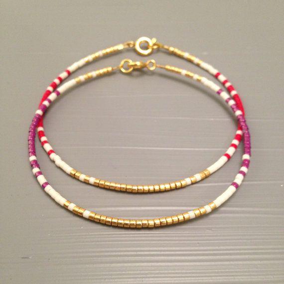 Meilleur ami cadeau petit marcottage bracelet par ToccoDiLustro