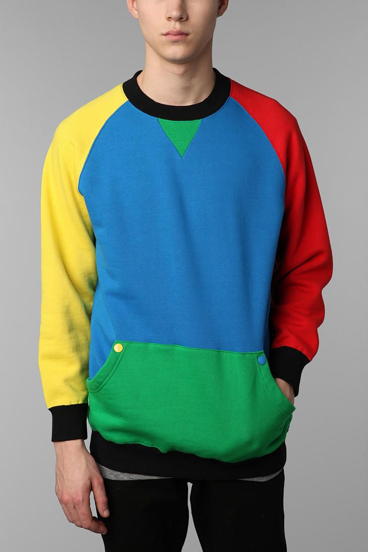 Lazy Oaf Colorblock Crew Sweatshirt