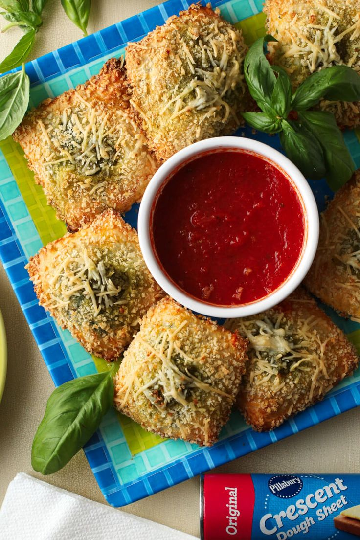 Toasted Spinach Pesto Ravioli, a category winner of the 48th Pillsbury Bake-Off®️️ Contest, is a delicious appetizer recipe perfect for any occasion!
