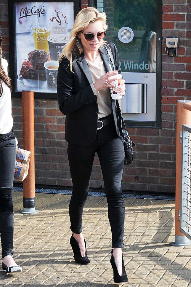 Кейт Мосс в McDonald's в Лондоне