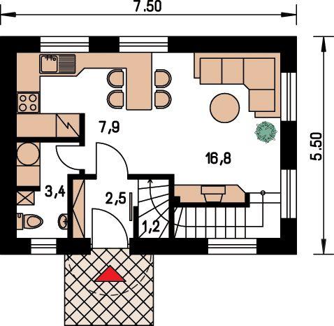 Proiecte de case pe teren cu deschidere mica narrow lot house plans 10