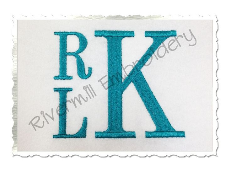 $2.95Boys Stacked Monogram Machine Embroidery Font
