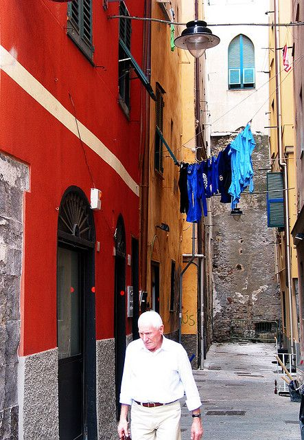 alley...Genova, Italy. This is what I remember most. The alleyways between tall buildings and cobble stone roads.