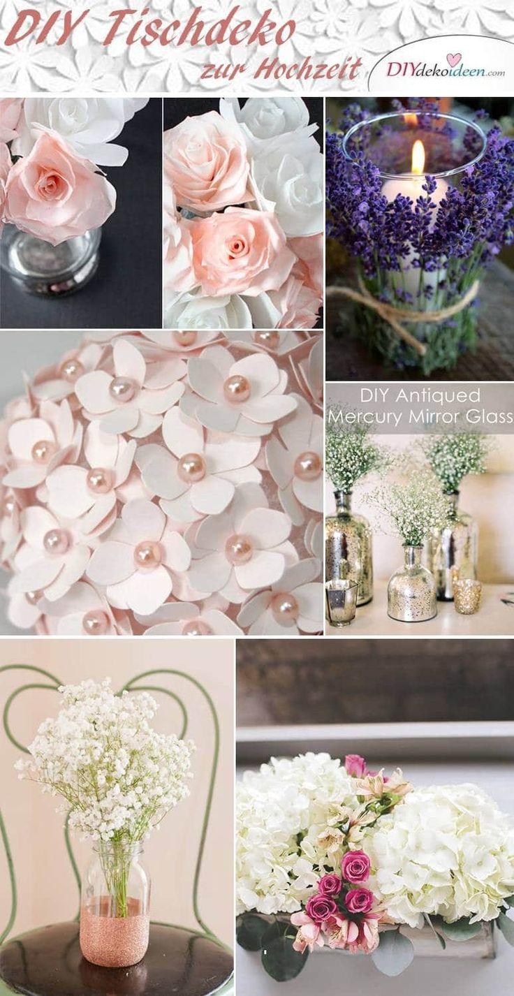 Trend DIY Tischdeko Ideen zur Hochzeit Deko selber machen