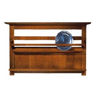 Stickley Mission Plate Rack Oak Arts Crafts Furniture