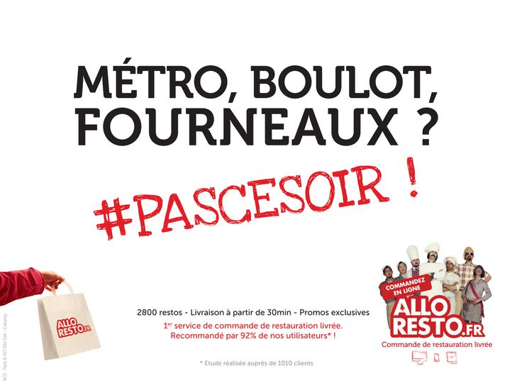 Métro, boulot, fourneaux #PASCESOIR !