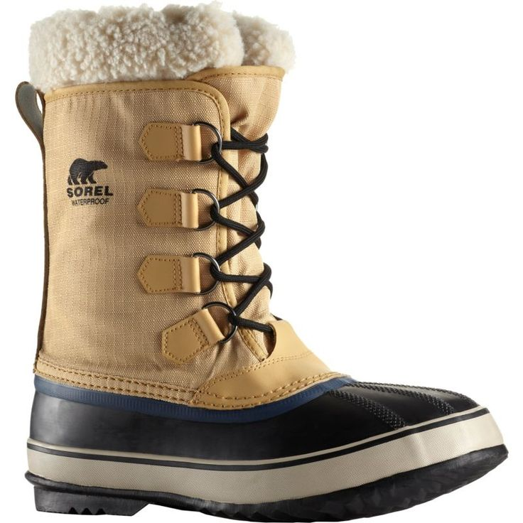Sorel Men's 1964 Pac Nylon Waterproof Insulated Winter Boots, Curry
