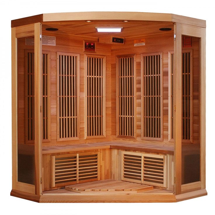 Maxxus Saunas 3-person corner sauna is designed for ease of use and is an outstanding value. Enjoy the convenience of operating a Dynamic Sauna with our dual (interior and exterior) soft touch control panel and LED display featuring sauna temperature and time functions. Every Maxxus Sauna is equipped with a reduced wattage floor and lower bench heater to allow the same benefits and treatment to your legs and feet without the burning sensation of other sauna manufactures. Enjoy your sauna…