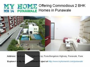 2 Bhk Residential Flats at My Home Punawale near Hinjewadi and Wakad Pune