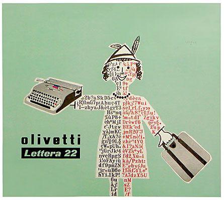 #Olivetti Lettera 22 poster, designed by Raymond #Savignac. #1953