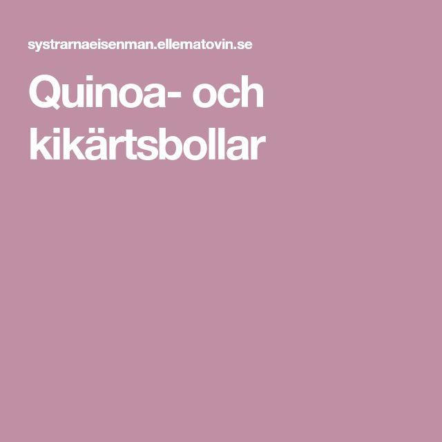 Quinoa- och kikärtsbollar
