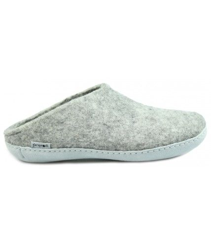 Buy Glerups Grey Slippers Online