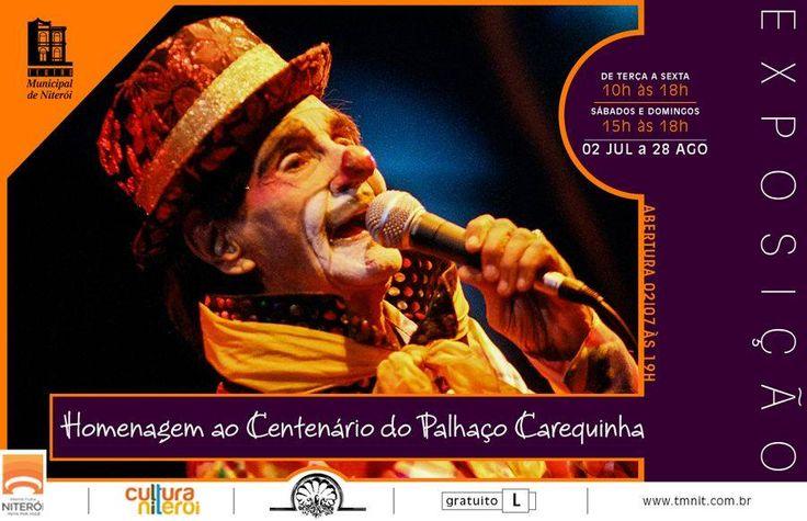 Exposição 100 anos Palhaço Carequinha. Vamos. Com fotos de Helcio Peynado.