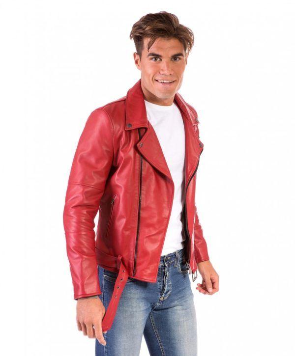 hot sale online 466dd 1558e chiodo-in-pelle-uomo-modello-biker-chiodo-con-cerniera ...