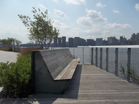 Hunters Point New York Waterfront Park Manfredi Weiss Boardwalk Kebony Wood Decking Terrace Sustainable Landscape Architecture