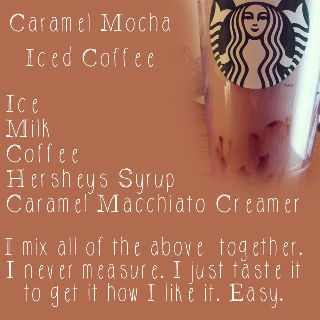 Caramel Mocha Iced Coffee. Easy and Yummy!