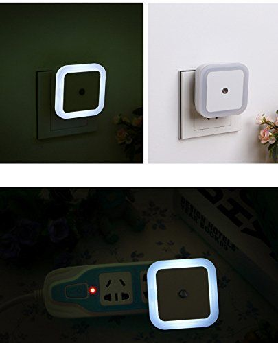 Exlight 05W110V Led Smart Sensor Night LightAutomatic Creative gifts for Bedroom Living Room Bathroom Hotel Bar Office Set of 6White * Check out the image by visiting the link. (Note:Amazon affiliate link)