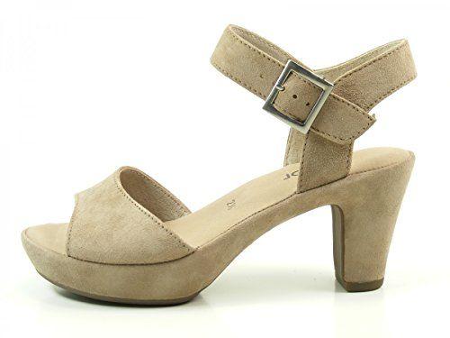Gabor Fashion Damenschuhe 45.751.53 Damen Sandalette Sandale Leder (Wildleder) Grau (visone(ohne Strass), EU 41 - http://on-line-kaufen.de/gabor/7-5-uk-gabor-fashion-damenschuhe-45-751-damen