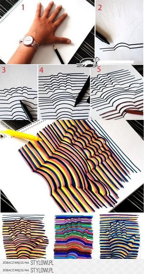 Efekt 3D na zwykłej kartce papieru na Stylowi.pl