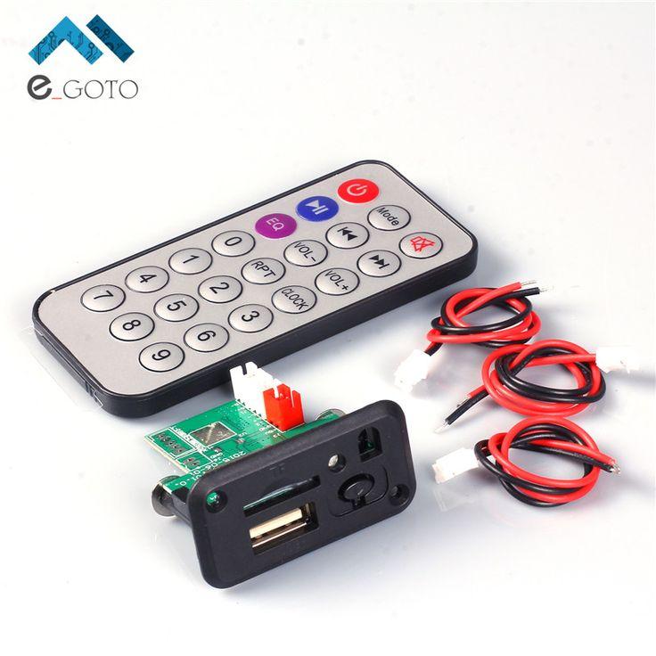 Gratis Pengiriman Mini 5 V MP3 Papan Decoder Modul MP3 WAV Decoding U disk & Kartu TF USB Dengan Amplifier Dengan Remote Controller