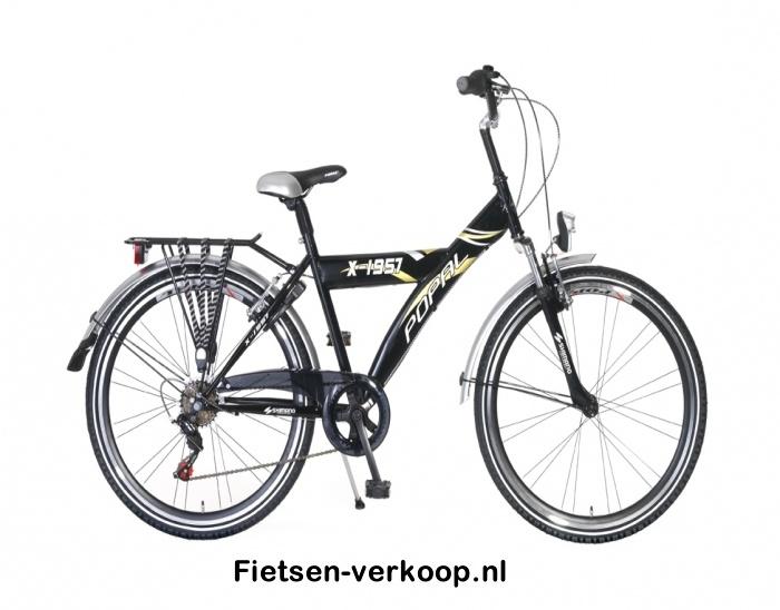 Jongensfiets X1957 6-speed Zwart 26 Inch   bestel gemakkelijk online op Fietsen-verkoop.nl