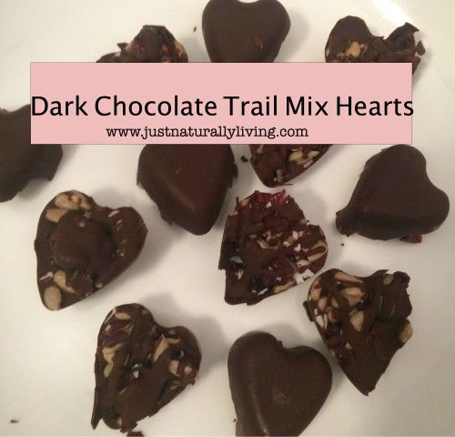 Looking for a new way to satisfy your sweet tooth? Try these dark chocolate trail mix hearts!