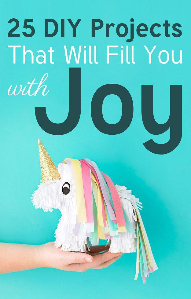 25 DIY Projects That Will Fill You With Joy