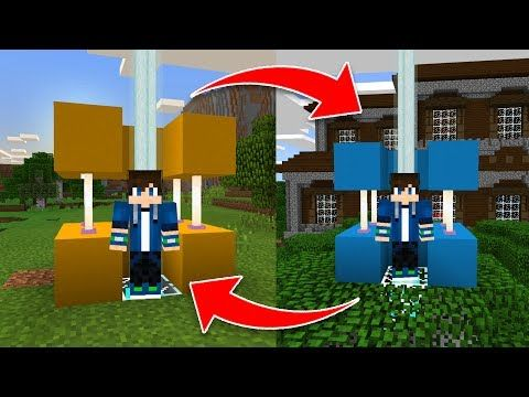 How to Build a TELEPORT MACHINE in Minecraft Pocket Edition 1.1.1! - YouTube