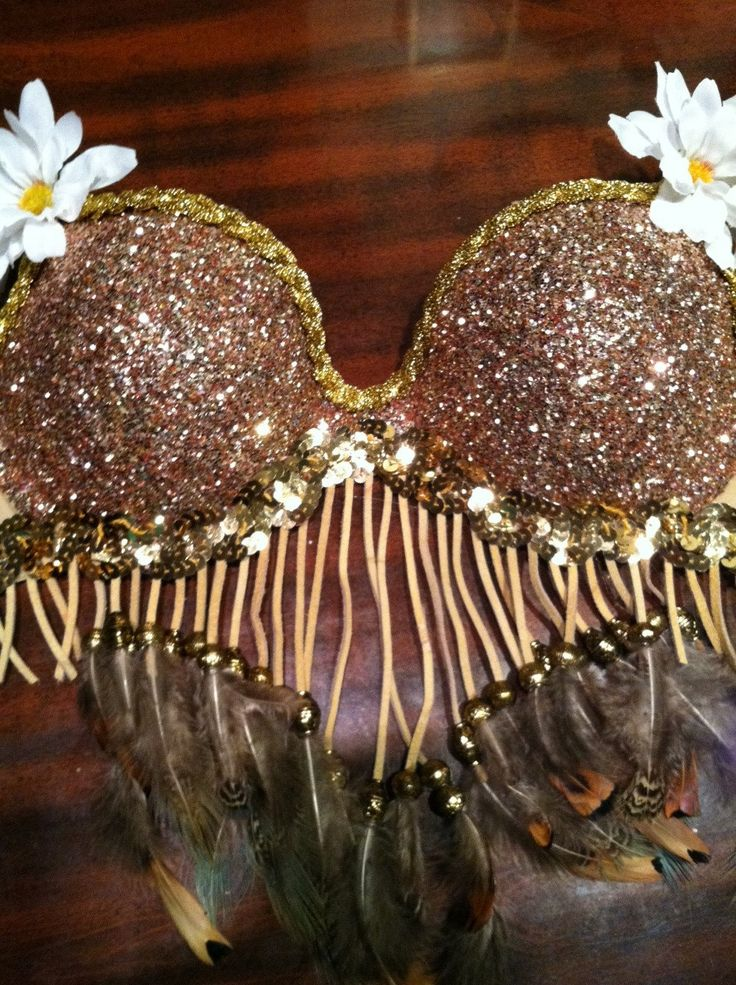 Glitter Rave Daisy Indian Bra