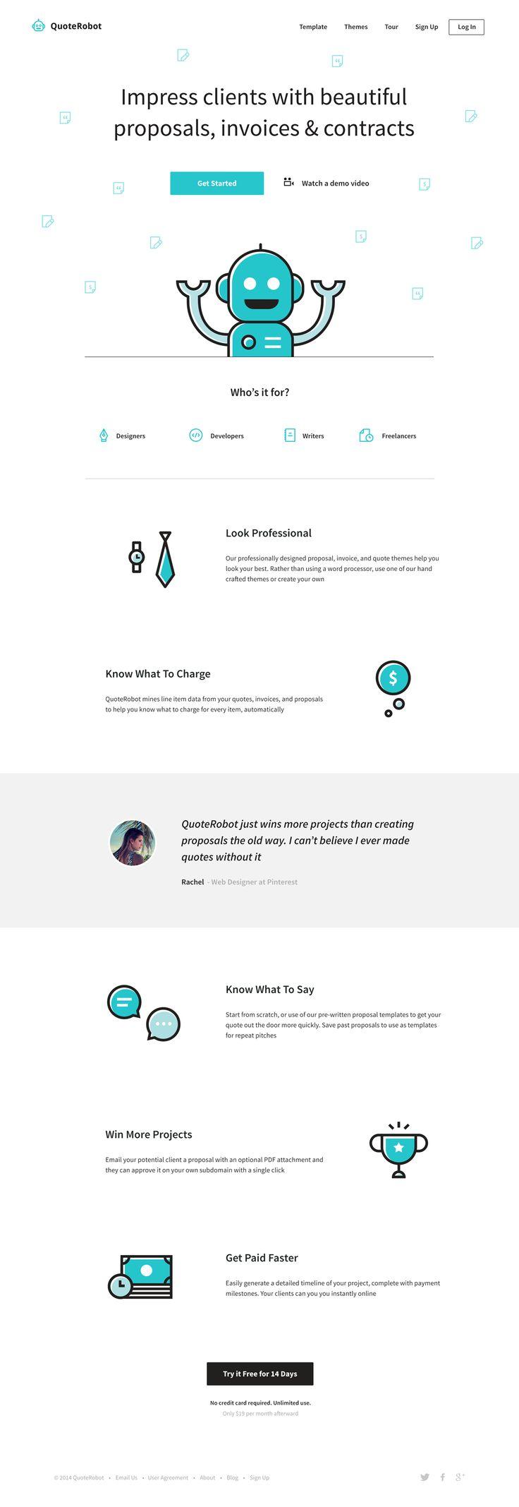 QuoteRobot Landing Page by Dmitri Litvinov for Input Logic