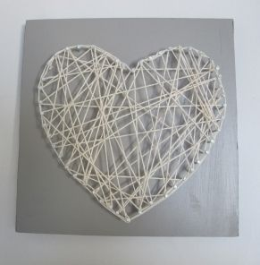 Tableau à clous et ficelle - A frame done with nails and string - Pure Sweet Home