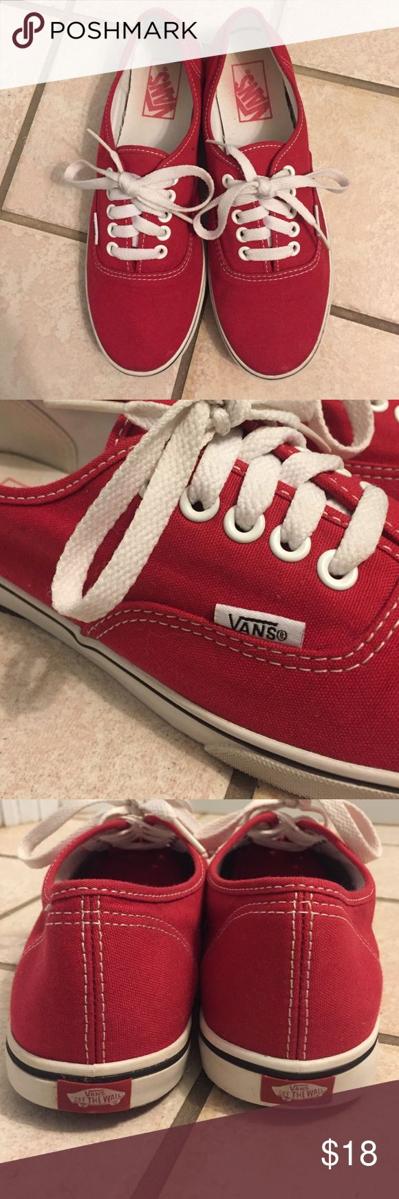 Vans Authentic Lo Pro sneakers Red vans sneakers. Only worn a few times. Vans Shoes Sneakers
