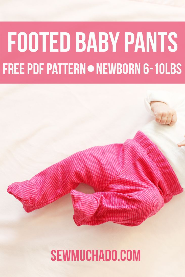 To keep those little feet warm this winter, Sew Muchado has this perfect, free pattern for footed baby pants. For newborns 6-10 lbs., these footed pants can be made from any pattern and will guarantee warm feet. Click in to learn more!