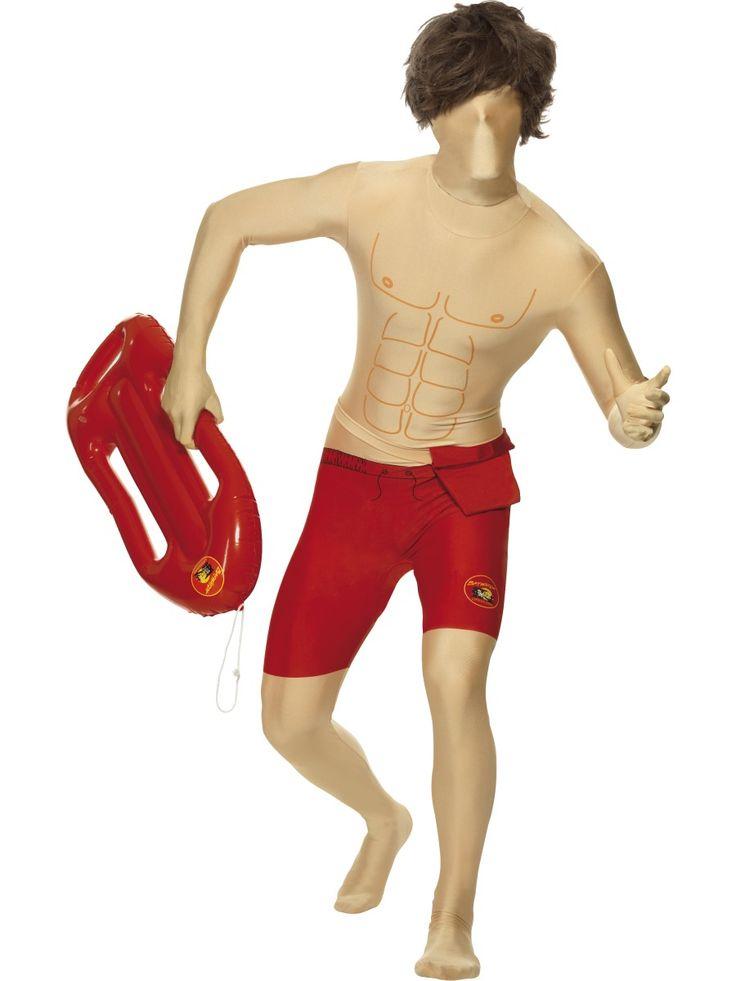 Second Skin Sukka-asu: Baywatch. Second Skin sukka-asu on kestävästä ja venyvästä materiaalista valmistettu hulvaton naamiaisasu.