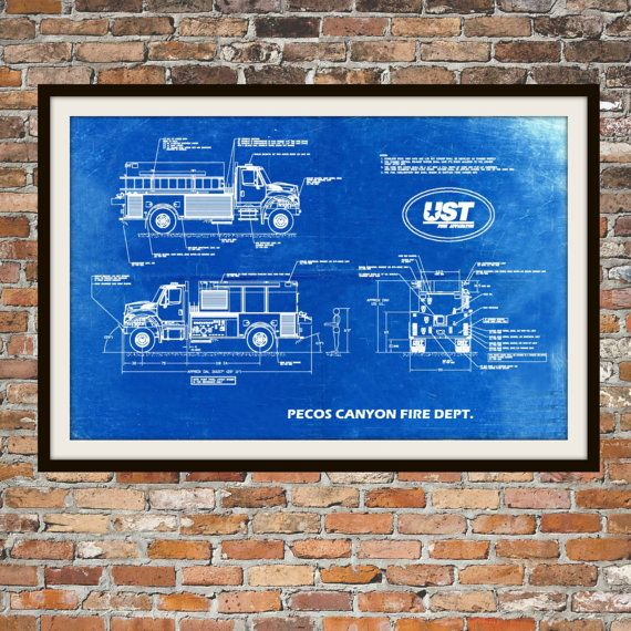 The 25 best blueprint art ideas on pinterest blueprint font us blueprint art of fire truck engine pecos canyon by bigbluecanoe malvernweather Gallery