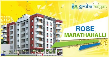 Gruha Kalyan ROSE at Marathahalli, Nearby Outer Ring Road 1, 2 and 3 BHK Flats/Apartments Available Price Starts From 15.30 Lakhs Onwards.