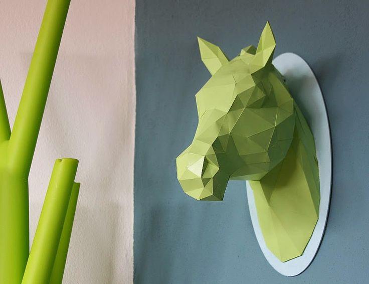 Origami Pferdekopf